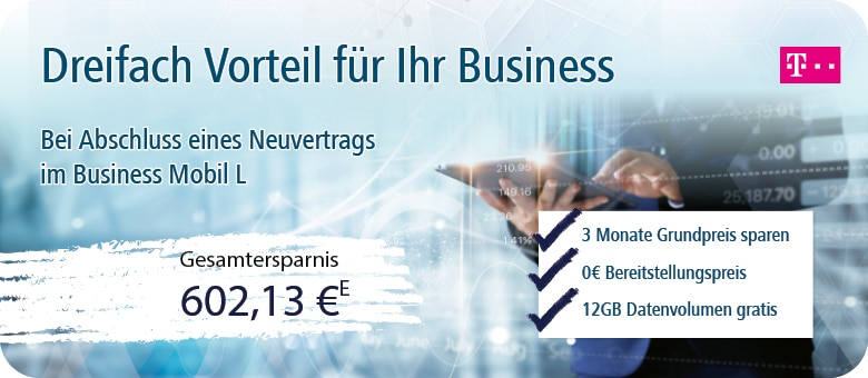 Telekom Business – 3-fach sparen